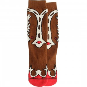 Stance Women Cowgirl Socks (brown) 1S