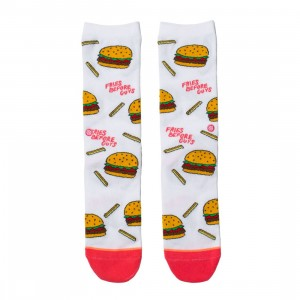 Stance Women Fries Before Guys Socks (white)