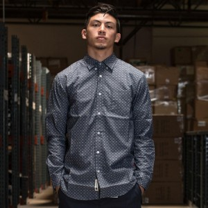 BAIT Basics Long Sleeve Shirt (blue / light blue)