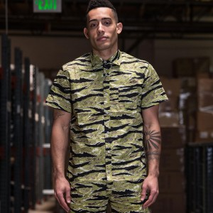 BAIT Basics Short Sleeve Shirt (camo / tiger camo)
