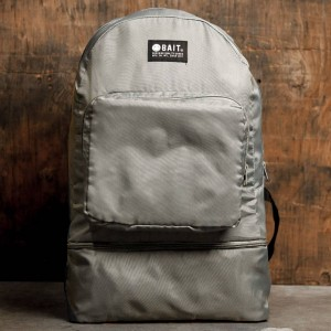 BAIT Lightweight Packable And Detachable Sneaker Nylon Backpack (silver)