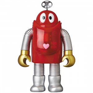PREORDER - Medicom Ganbare Robocon Robocon Clear Red Sofubi Figure (red)