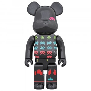PREORDER - Medicom Space Invaders 400% Bearbrick Figure (black)