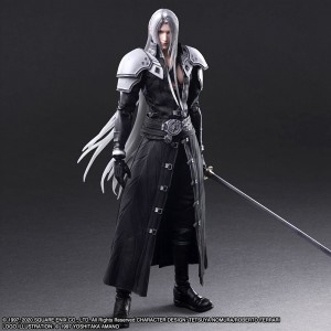 PREORDER - Square Enix Final Fantasy VII Remake Play Arts Kai Sephiroth Figure (gray)