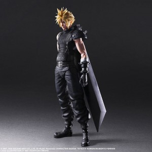 PREORDER - Square Enix Final Fantasy VII Remake Play Arts Kai Cloud Strife Ver. 2 Figure (black)