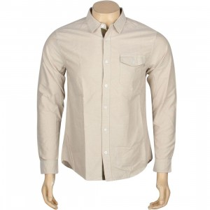 Stussy Bad Boy Oxford II Long Sleeve Shirt (tan)