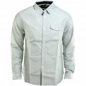 Stussy Oxford Check Long Sleeve Shirt (green)