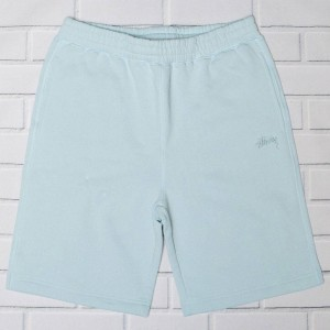 Stussy Men Stock Fleece Shorts (blue / sky blue)