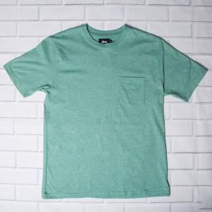 Stussy Men Heather O Dyed Pocket Tee (green / blue mint)