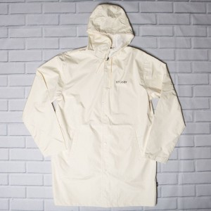 Stussy Men Summer Long Hooded Coaches Jacket (white)