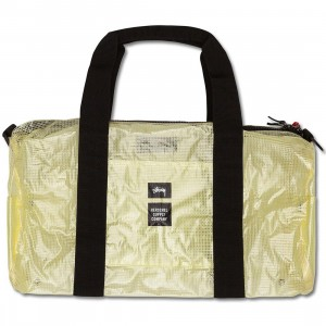 Stussy x Herschel Supply Co Duffle Bag - Clear Tarp Collab (white / clear)