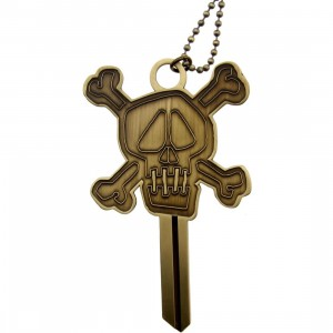 Stussy Skull Blank Key Necklace (metallic / brass)