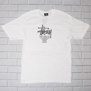 Stussy Men Big Cities Tee (white)