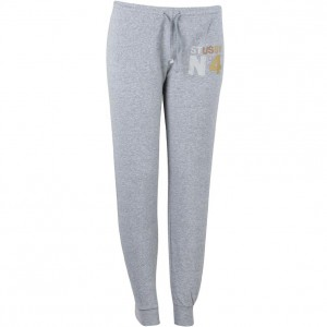 Stussy Women Metallic No 4 Sweat Pants (gray / heather)