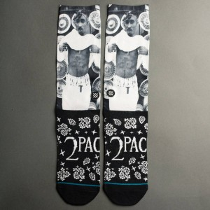 Stance Men Tupac Bandana Socks (black)
