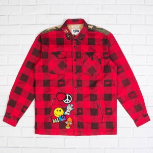 Billionaire Boys Club Men BB Ruckus LS Woven (red)