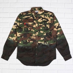 Billionaire Boys Club Men BB Ambush LS Woven (camo / starfish)