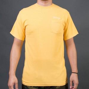 Stussy Men Stussy Stitch Pigment Dyed Pocket Tee (yellow / faye)