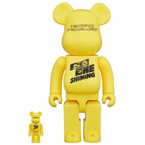 PREORDER - Medicom Stanley Kubrick The Shining Poster Ver. 100% 400% Bearbrick Figure Set (yellow)