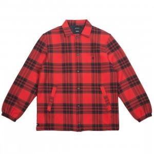 10 Deep Men Flannel Coaches Jacket (red)