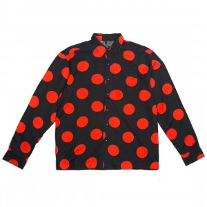 10 Deep Men Ginza Button Up (black / red)