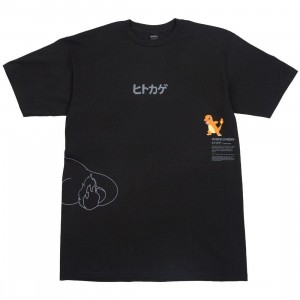 BAIT Exclusive 10 Deep x Pokemon Men Fire Strike Tee (black)