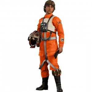 Hot Toys Star Wars Luck Skywalker Red Five X-wing Pilot 1/6 Scale Collectible Figure (orange)