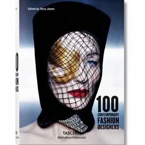 100 Contemporary Fashion Designers Hardcover Book (black / blue)