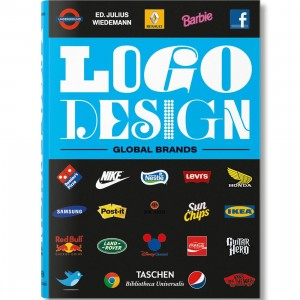 Logo Design Global Brands By Julius Wiedemann Book (blue / hardcover)