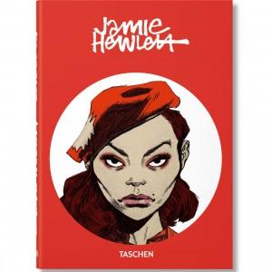 Jamie Hewlett By Julius Wiedemann 40th Anniversary Hardcover Book (red / hardcover)