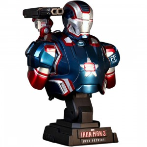 Hot Toys Iron Man 3 Iron Patriot 1/4 Scale Bust Figure (blue)