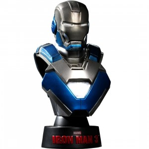 Hot Toys Iron Man 3 Iron Man Mark 30 1/6 Scale Bust Figure (blue)