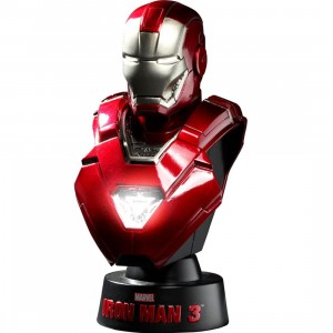 Hot Toys Iron Man 3 Iron Man Mark 33 1/6 Scale Bust Figure (red)