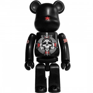 David Flores x Geoff Rowley Black Book Bearbrick Figure (black)