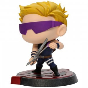 Dragon Model x Marvel Hero Remix 6in Bobblehead Series - Age of Ultron - Hawkeye Figure (yellow / navy)