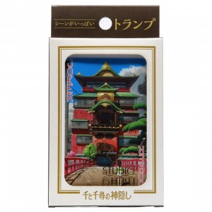 Studio Ghibli Ensky Spirited Away Movie Scenes Playing Cards (purple)