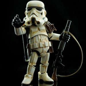 Herocross Hybrid Metal Figuration #019 Star Wars Sandtrooper Diecast Figure (white)