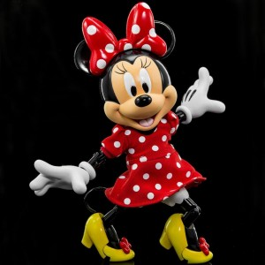 Herocross Hybrid Metal Figuration #027 Diseny Minnie Mouse in Red Dress Diecast Figure (red)