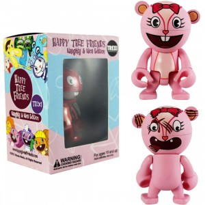 Happy Tree Friends Giggles 2.5 Inch Trexi Figure - Naughty And Nice (pink)