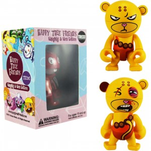 Happy Tree Friends Buddhist Monkey 2.5 Inch Trexi Figure - Naughty And Nice (orange)