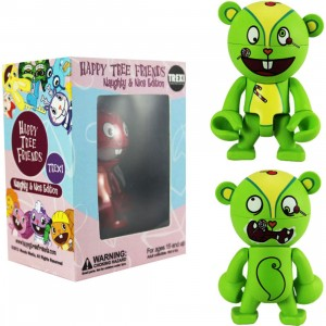 Happy Tree Friends Nutty 2.5 Inch Trexi Figure - Naughty And Nice (green)