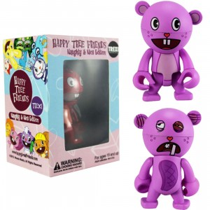 Happy Tree Friends Toothy 2.5 Inch Trexi Figure - Naughty And Nice (purple)