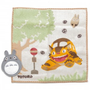 Studio Ghibli Marushin My Neighbor Totoro Totoro At Catbus Station Mini Towel (green)
