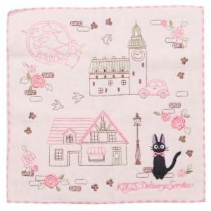 Studio Ghibli Marushin Kiki's Delivery Service Jiji Pink Avenue Mini Towel (pink)