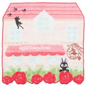 Studio Ghibli Marushin Kiki's Delivery Service Jiji Flower Maison Mini Towel (pink)