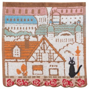 Studio Ghibli Marushin Kiki's Delivery Service Jiji City of Koriko Mini Towel (multi)