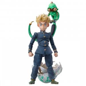 Medicos Super Action Statue JoJo's Bizarre Adventure Part 4 Diamond Is Unbreakable Koichi Hirose And Echoes Act 1 Chozokado Figure (navy)
