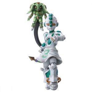 Medicos Super Action Statue JoJo's Bizarre Adventure Part 4 Diamond Is Unbreakable Echoes Act 2 And Echoes Act 3 Chozokado Figure (green)