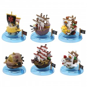 MegaHouse One Piece Yura Yura Pirate Ship Collection Vol. 3 Box Set - 6 Figures (multi)