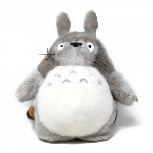 Studio Ghibli Sun Arrow My Neighbor Totoro Gray Totoro 15.5 Inch Plush Backpack (gray)